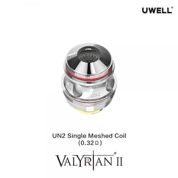 Uwell Valyrian 2 UN2 Single Mesh Coils 0.32 Ohm 2er Pack