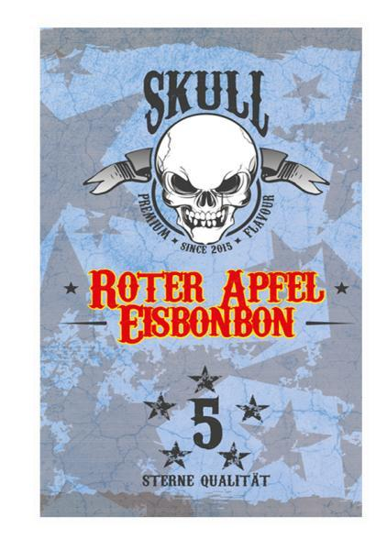 Roter Apfel Eisbonbon - Skull Aroma 20ml