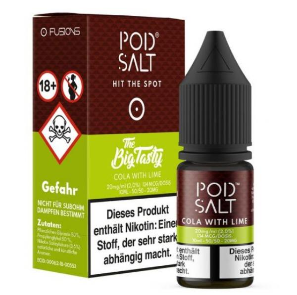 Pod Salt 20mg - Cola with Lime 10ml