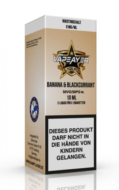 VapeAyer - Banana & Blackcurrant Liquid - 10ml