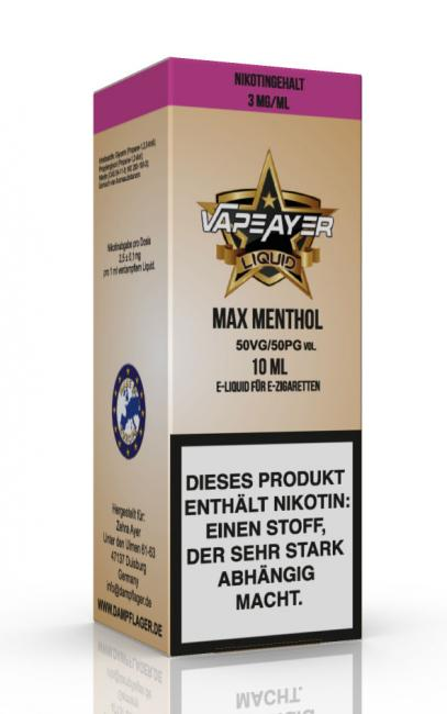 VapeAyer - Max Menthol Liquid - 10ml