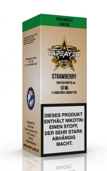 VapeAyer - Strawberry Liquid - 10ml